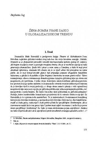 Žena-bomba Ivane Sajko u globalizacijskom trendu / Stephanie Jug