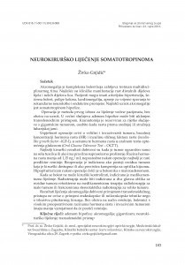 Neurokirurško liječenje somatotropinoma / Živko Gnjidić