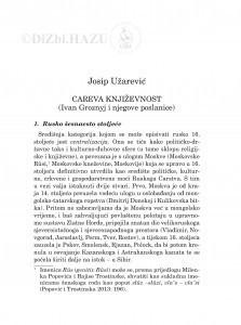 Careva književnost : (Ivan Groznyj i njegove poslanice) / Josip Užarević