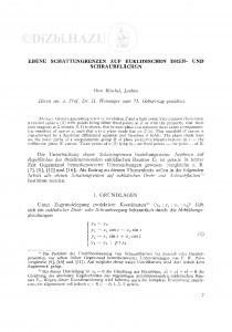 Ebene Schattgrenzen auf euklidischen Dreh- und Schraubflächen / O. Röschel