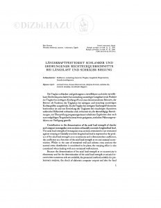 Längskraftfestigkeit schlanker und gedrungener Rechteckquerschnitte bei Längslast und schräger Biegung / R. Rosman