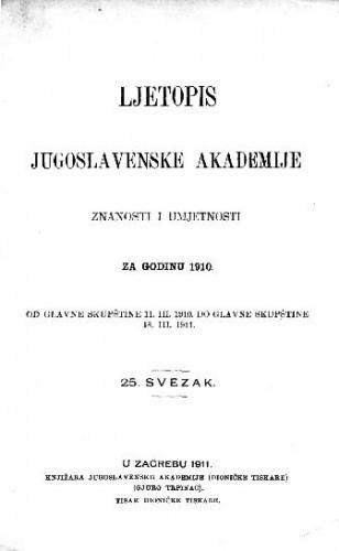 Za godinu 1910. Sv. 25