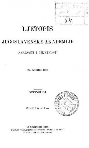 Za godinu 1919. Sv. 34