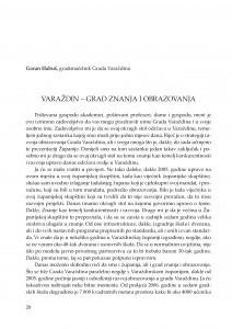 Varaždin - grad znanja i obrazovanja : [uvodno izlaganje] / Goran Habuš