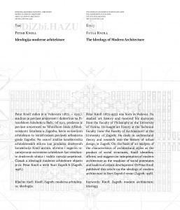 Ideologija moderne arhitekture = The ideology of modern architecture / Petar Knoll