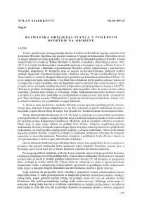 Klimatska obilježja Ivanca s obzirom na oborine / Milan Sijerković