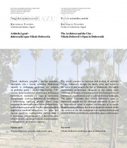 Arhitekt i grad - dubrovački opus Nikole Dobrovića : The architect and the city - Nikola Dobrović's opus in Dubrovnik / Krunoslav Ivanišin