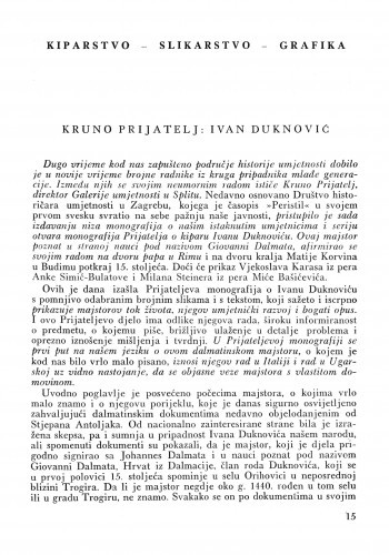 Kruno Prijatelj: Ivan Duknović / Ljubo Karaman
