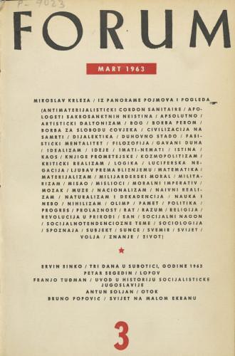 God. 2(1963), knj. 3, br. 3 / glavni i odgovorni urednik Marijan Matković