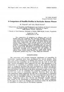 A comparison of paraffin profiles in particular human tissues / M. Popović, I. Biočić-Steiner
