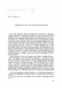 Adhortatio ad poenitentiam / J. Hamm