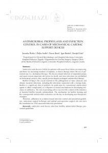 Antimicrobial prophylaxis and infection control in cases of mechanical cardiac support devices / Jasenka Škrlin, Željko Sutlić, Davor Barić, Igor Rudež, Danijel Unić