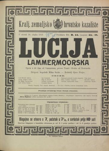 Lucija Lammermoorska Opera u tri čina