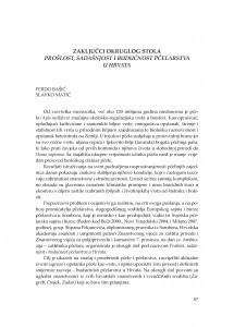 Zaključci okruglog stola; Prošlost, sadašnjost i budućnost pčelarstva u Hrvata