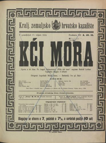 Kći mora Opera u tri čina