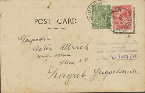 Dopisnica Naste Rojc Antunu Ullrichu, Stratfield Saye, 1.4.1925.