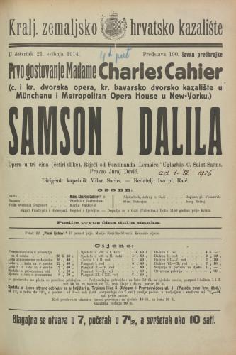 Samson i Dalila : Tragikomedija u tri čina