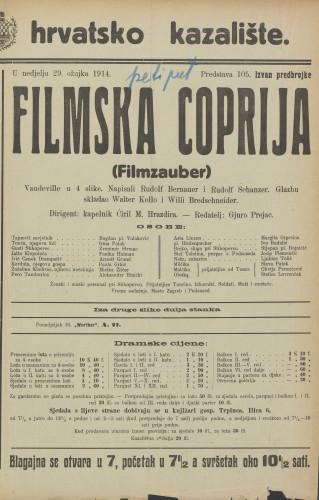 Filmska coprija : Vaudeville u 4 slike  =  Filmzauber