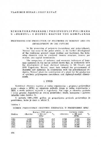 Struktura prerade i proizvodnje polimera u