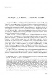 Andrija Kačić Miošić i narodna pjesma / Stipe Botica
