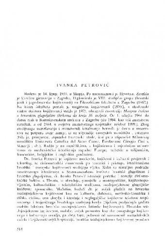 Ivanka Petrović