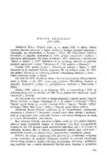 Kruno Prijatelj (1922.-1998.) / Andre Mohorovičić