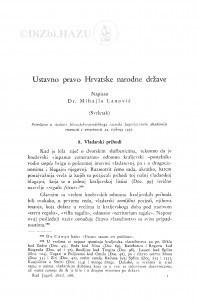 Ustavno pravo Hrvatske narodne države : (svršetak) / M. Lanović