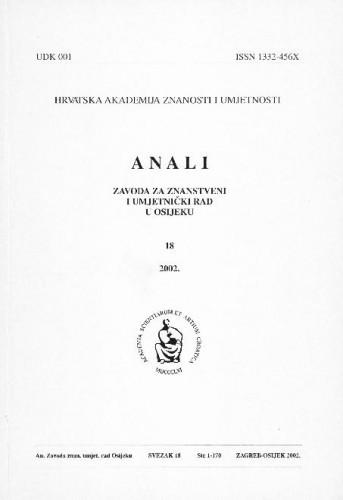 Sv. 18 (2002) / urednici Dragan Dekaris, Julijo Martinčić
