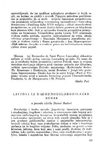 Listovi iz Narodnooslobodilačke borbe : u povodu izložbe Detoni-Radauš / Veno Zlamalik