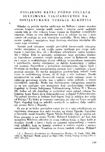 Posljednji ratni pohod Sultana Sulejmana Veličanstvenog na minijaturama turskih rukopisa / Mara Harisijadis