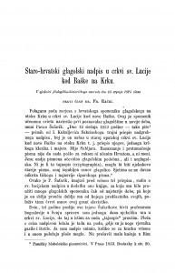 Staro-hrvatski glagolski nadpis u crkvi sv. Lucije kod Baške na Krku / Franjo Rački