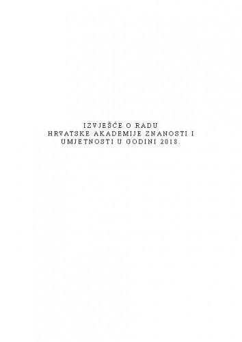 Izvješće o radu Hrvatske akademije znanosti