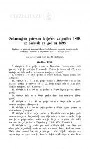 Sedamnajsto potresno izvješće: za godinu 1899. uz dodatak za godinu 1898. / M. Kišpatić