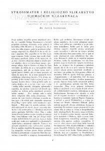 Strossmayer i religiozno slikarstvo njemačkih nazarenaca / A. Schneider