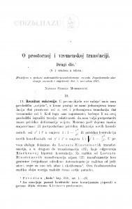 O prostornoj i vremenskoj translaciji : drugi dio / S. Mohorovičić