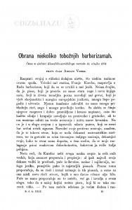 Obrana niekoliko tobožnjih barbarizamah / A. Veber
