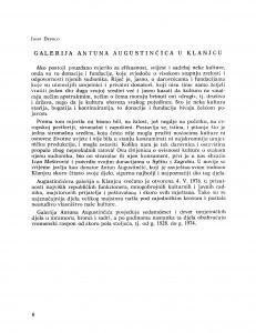 Galerija Antuna Augustinčića u Klanjcu / Josip Depolo