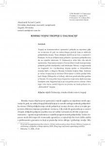 Rimski vojni tropeji u Dalmaciji / Nenad Cambi