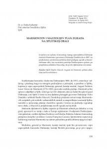 Marmontov i Mazzolijev plan zgrada na splitskoj obali / Duško Kečkemet