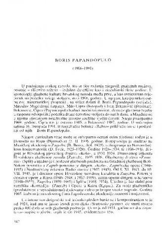 Boris Papandopulo (1906-1991) : [nekrolozi] / Lovro Županović