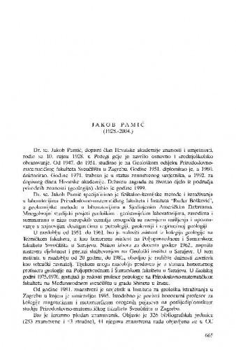 Jakob Pamić (1928.-2004.) : [nekrolog] / Ivan Jurković