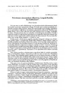 Privrženost nizozemskom slikarstvu : Leopold Ružička kao kolekcionar / H. Gerson