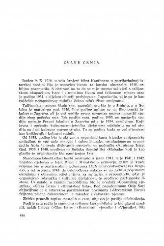 Zvane Črnja : [biografije novih članova Akademije]