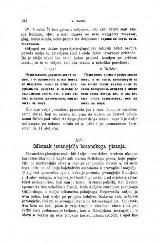 Odlomak jevangelja bosanskoga pisanja : [opisi i izvodi iz nekoliko južnoslovinskih rukopisa] / Vatroslav Jagić