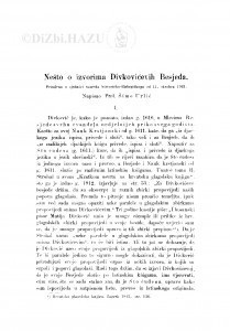Nešto o izvorima Divkovićevih Besjeda / Š. Urlić