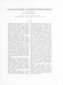Buvinove vratnice i drveni kor splitske katedrale / Ljubo Karaman