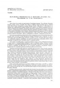Ratarska produkcija u kotaru Ivanec na razmeđi 19. i 20. stoljeća / Miroslav Žugaj ; Benedikt Bojanić-Glavica