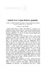 Latinski izvor i ocjena Kašićeve gramatike / M. Šrepel