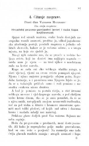 Hrvatski pravno-povijestni izvori i naša lijepa književnost / V. Mažuranić