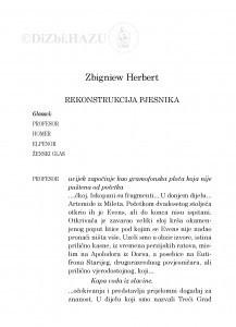 Rekonstrukcija pjesnika / Zbigniew Herbert ; [bilješka o piscu] preveo Pero Mioč